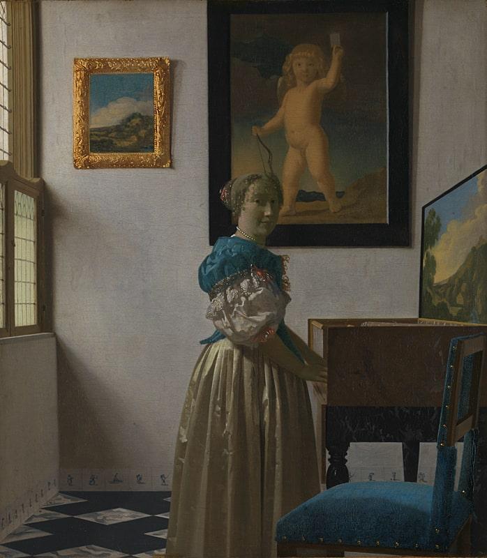 Johannes Vermeer «Stehende Virginalspielerin», 1670-1672 © The National Gallery, London