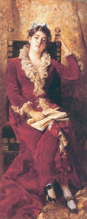 К.Е. Маковский «Портрет жены художника Юлии Павловны Маковской», 1881 © ГРМ