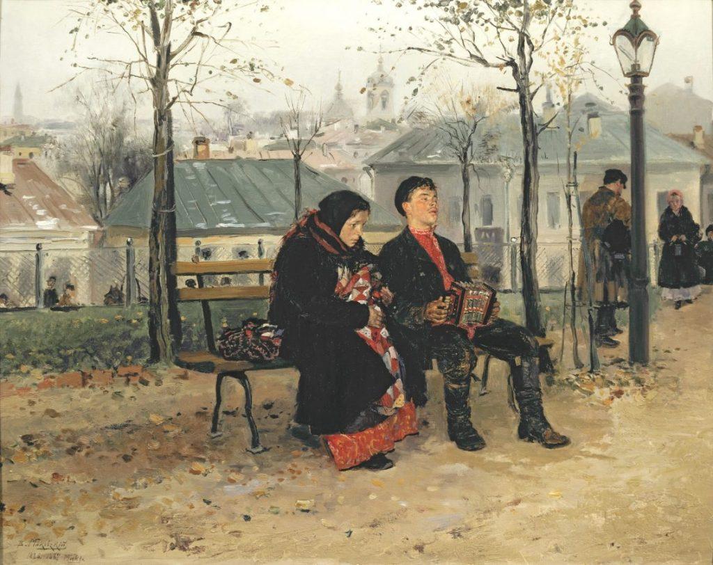 В.Е. Маковский «На бульваре», 1886-1887 © ГТГ