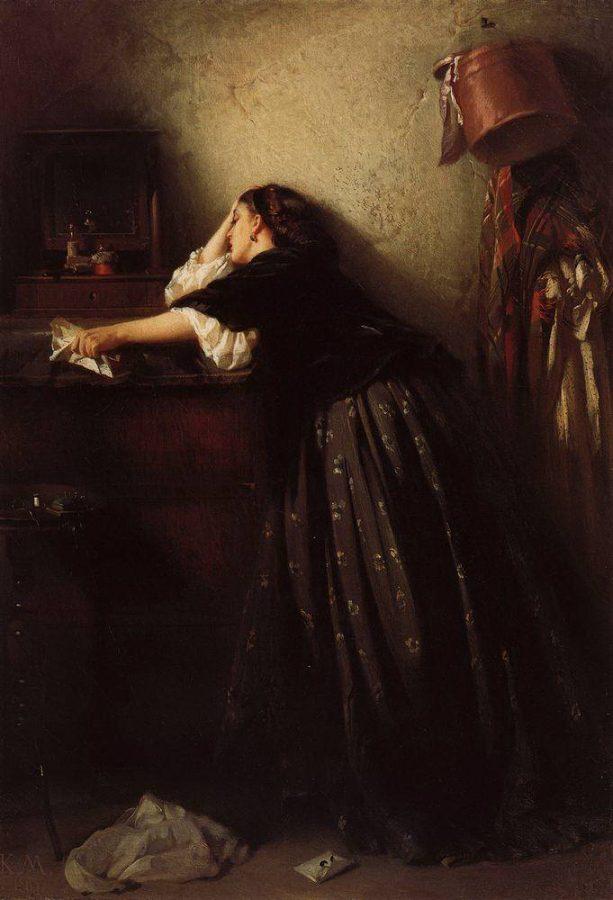 К.А. Маковский «Вдовушка», 1865 © ГРМ