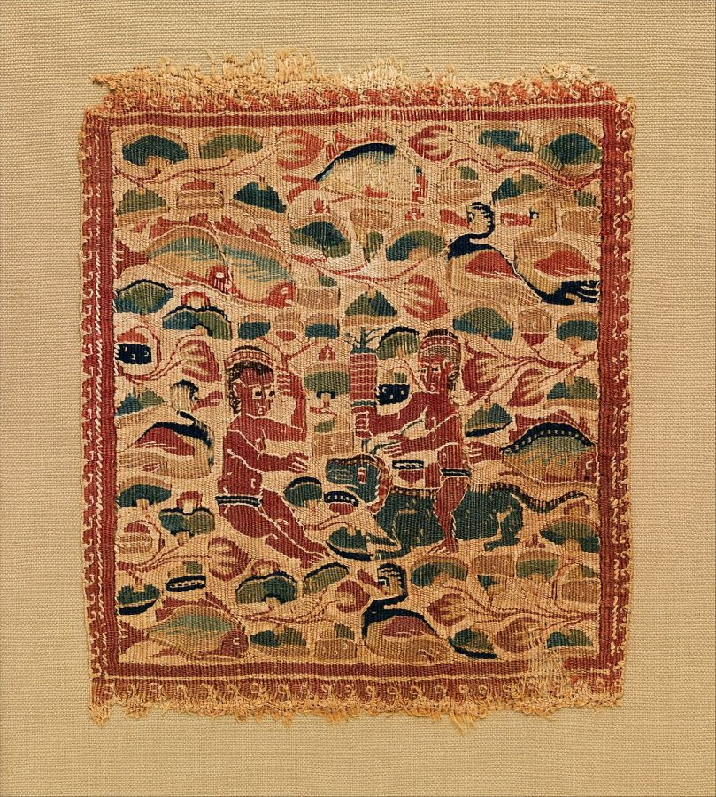 Два играющих Путти на фоне Нильского пейзажа, IV-V век