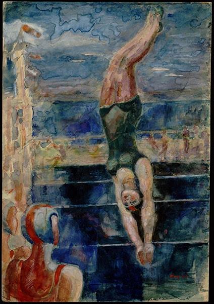 Александр Родченко «Прыжок в воду», 1940 © ММОМА