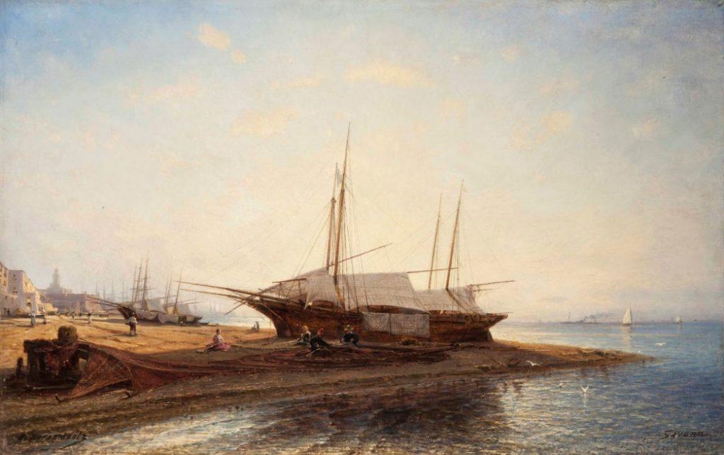 А.П. Боголюбов «Морское побережье в Савоне», 1880 © ГРМ