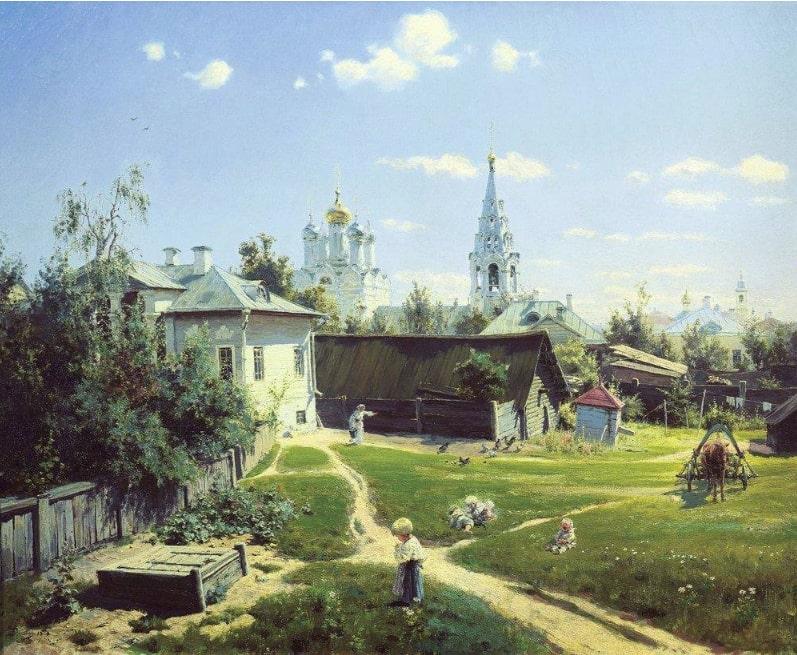 В.Д. Поленов «Московский дворик», 1878 © ГТГ