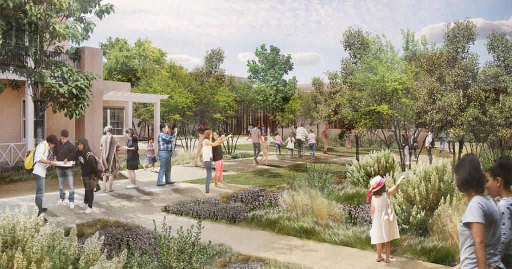 Проект нового музея Джорджии О'Кифф в Санта-Фе © Georgia O'Keeffe Museum