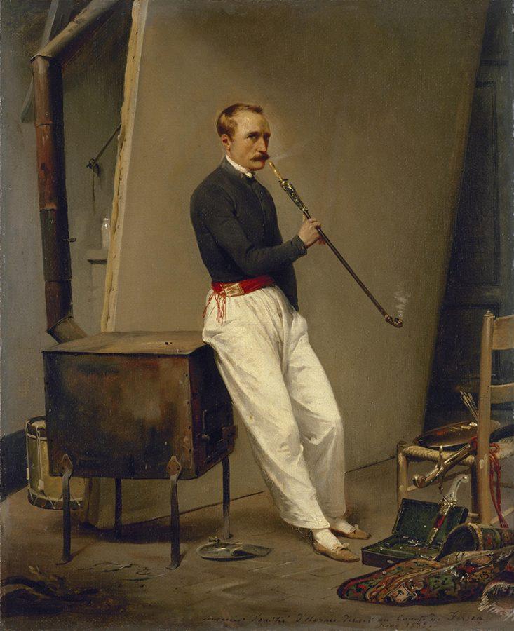 Орас Верне «Автопортрет», 1835. Холст, масло © Государственный Эрмитаж