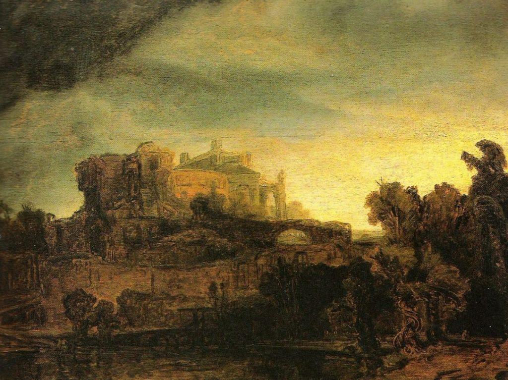 Рембрандт Харменс ван Рейн «Пейзаж с замком», 1640 (Лувр)
