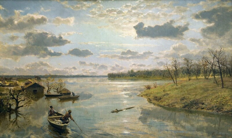 А.А. Киселев «На берегу реки», 1904 © ВОХМ им. И.Н. Крамского