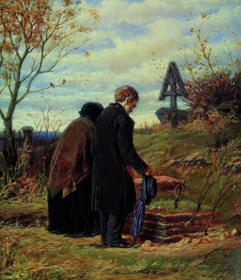 В.Г. Перов «Старики родители на могиле сына», 1874 © ГТГ
