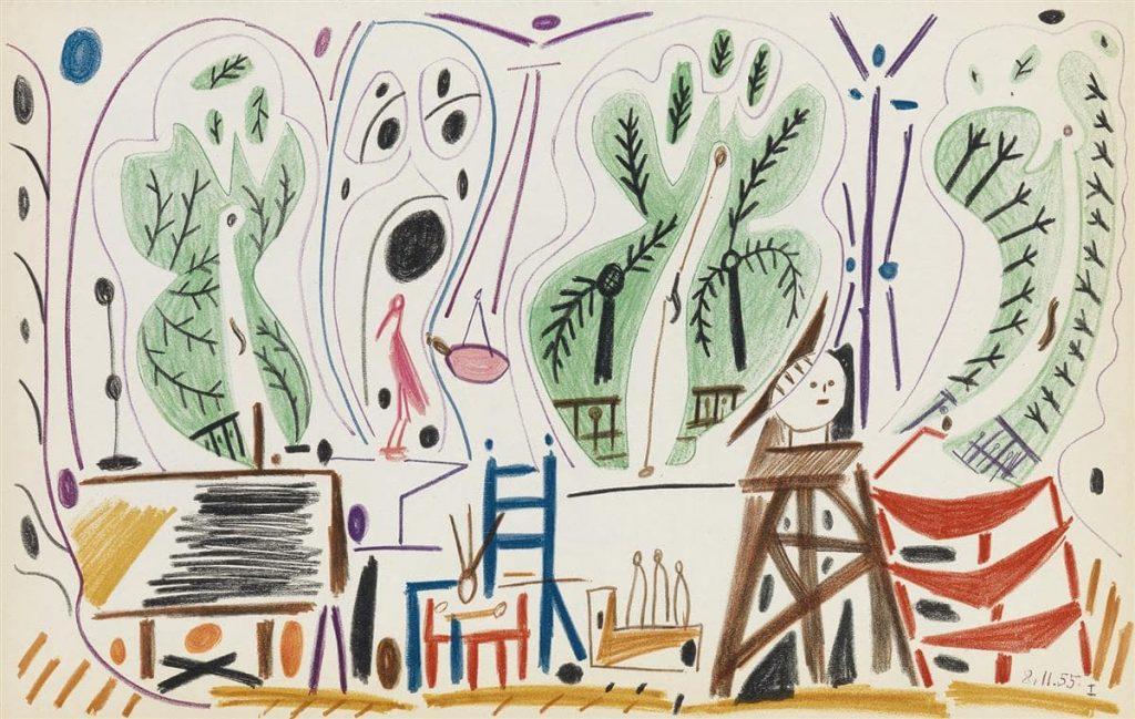Пабло Пикасса «Калифорнийский альбом», 1955 © simhm