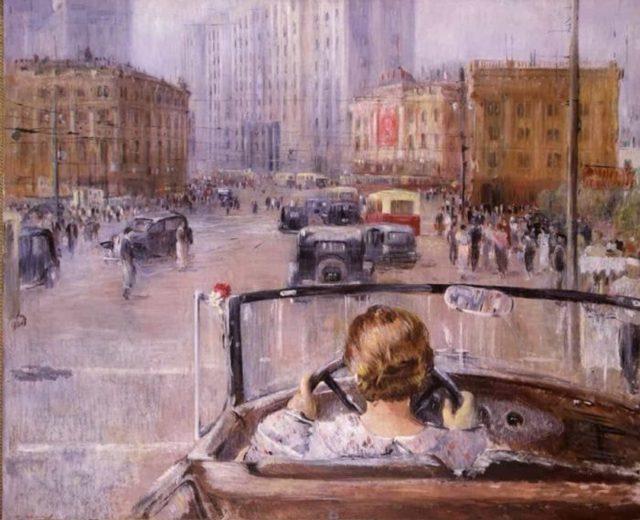 Ю.И. Пименов «Новая Москва», 1937 © ГТГ