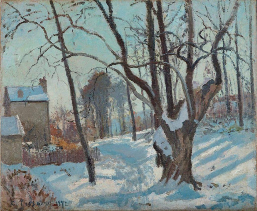 Камиль Писсарро «Снежный пейзаж в Лувесьенне», 1872 © Kunstmuseum Basel