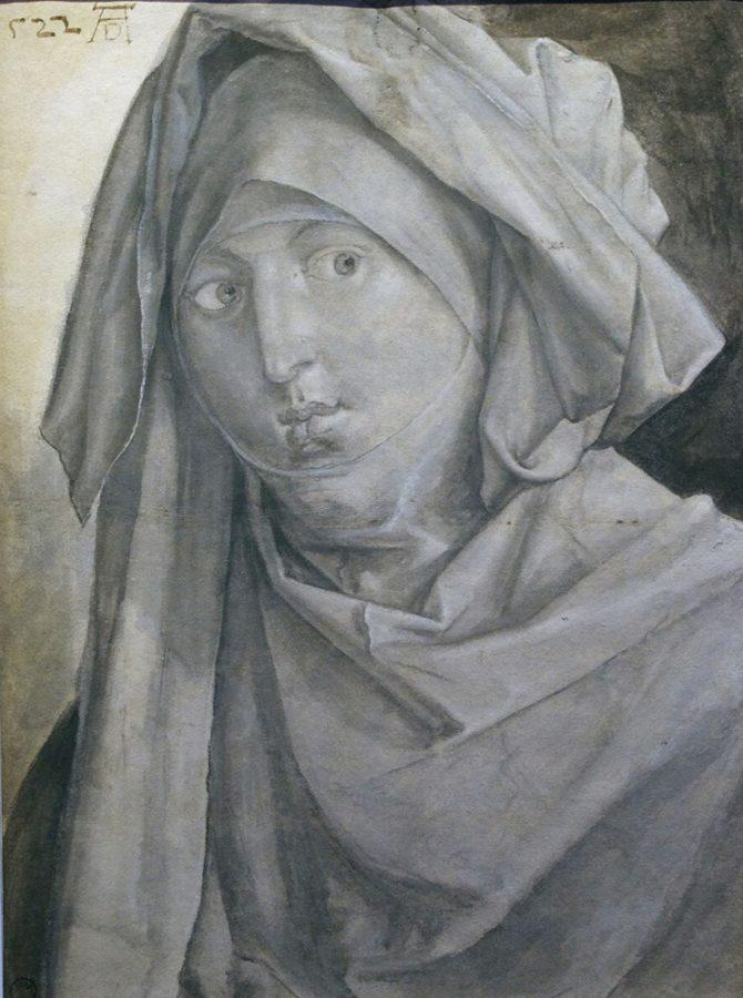 Альбрехт Дюрер «Женщина в платке и покрывале», 1522 © МЗИ