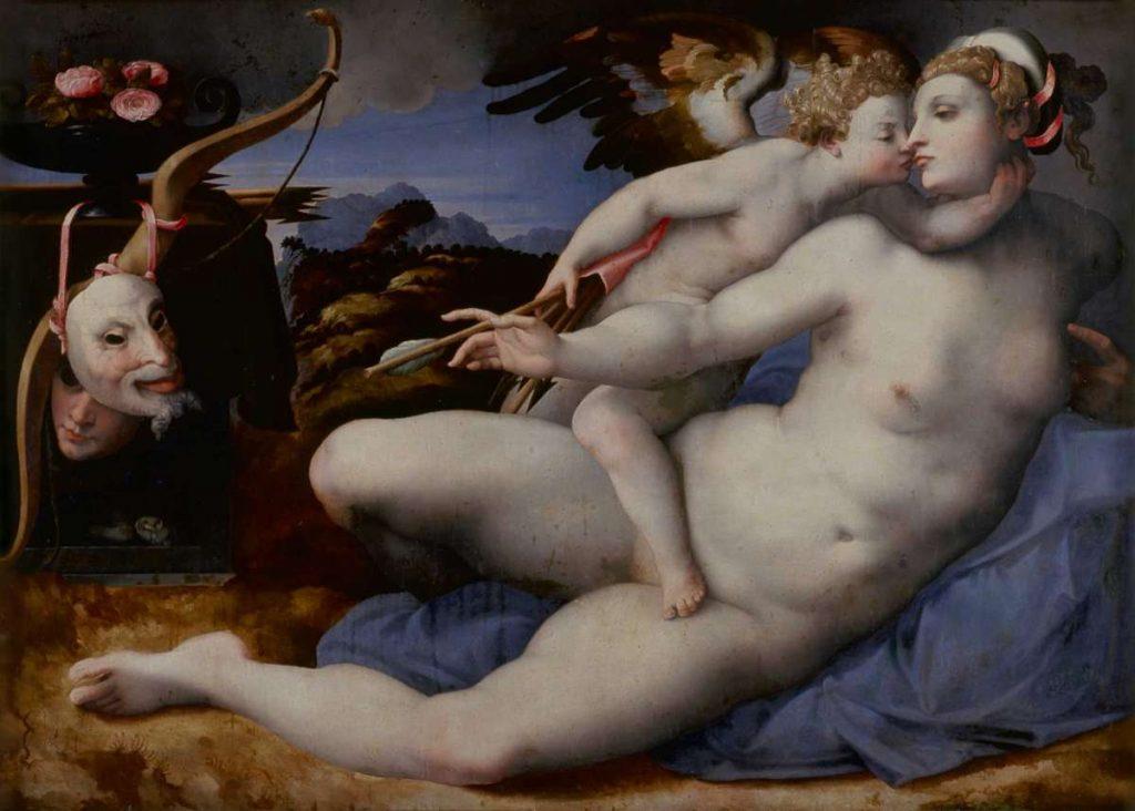Хендрик ван дер Брук «Venus kissed by Cupid (after Michelangelo)», 1550-1570 © Museo del Prado