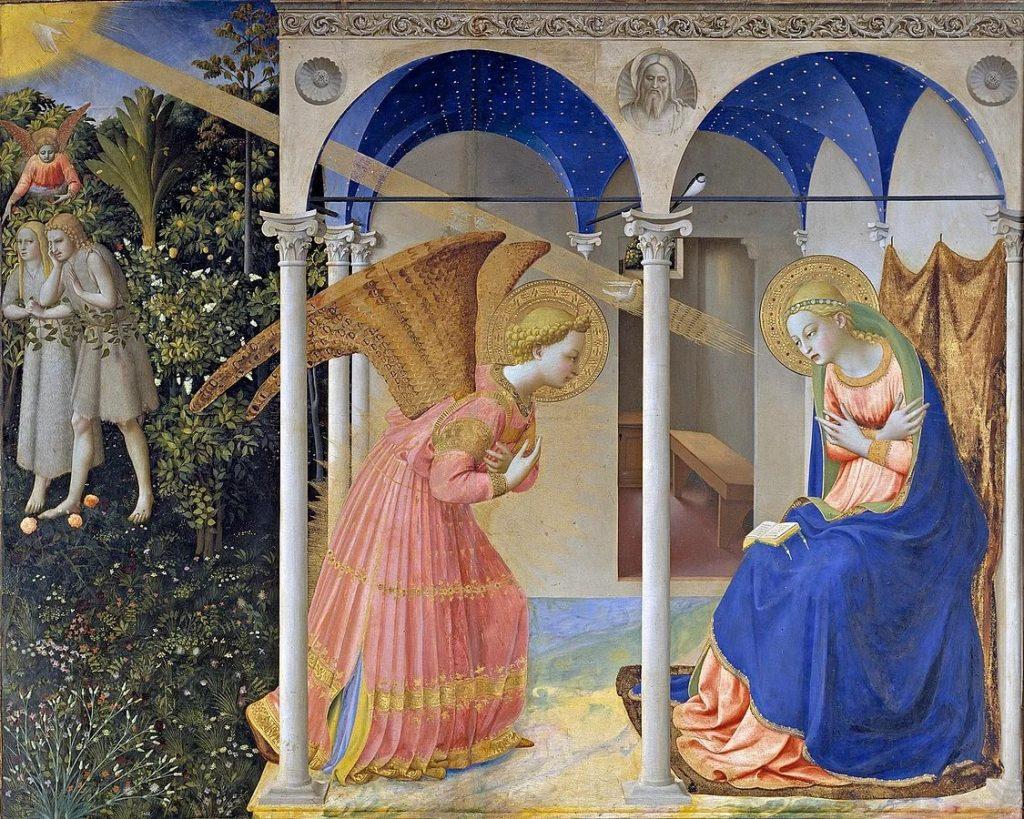 Фра Беато Анджелико «Благовещение», 1450 © Museo del Prado