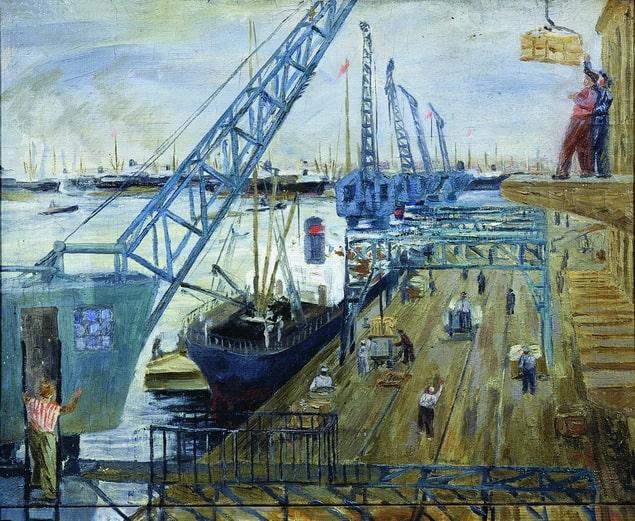 Виктор Прошкин «В порту», 1934 © МИСП