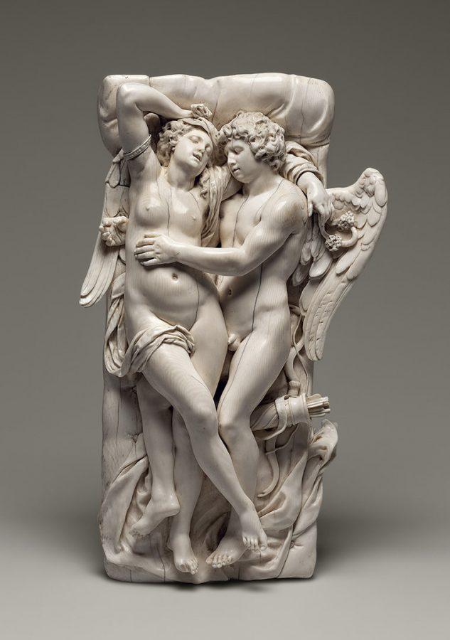 Лукас Файдхербе (1617–1697) «Амур и Психея». Фландрия. Сер. XVII в. Слоновая кость; резьба © Государственный Эрмитаж