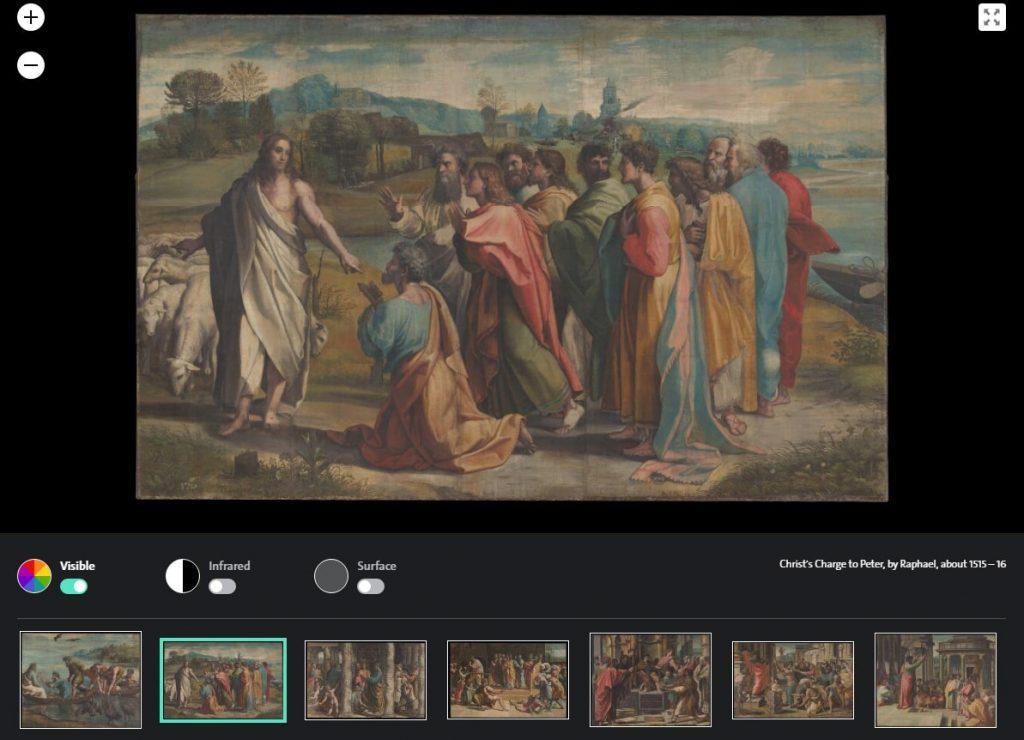 Рафаэль «Иисус наставляет Петра», 1515 © Victoria and Albert Museum, London. Courtesy Royal Collection Trust / Her Majesty Queen Elizabeth II, 2021