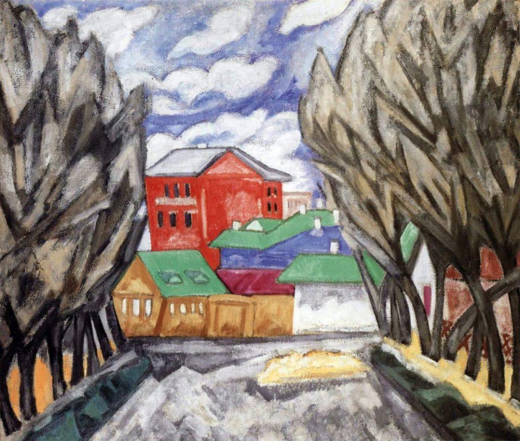 О.В. Розанова «Красный дом», 1910 © ГРМ