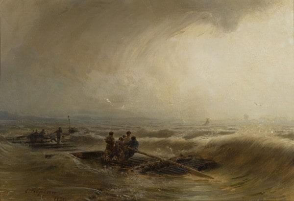 И. Е. Репин «Шторм на Волге», 1873 © ГРМ