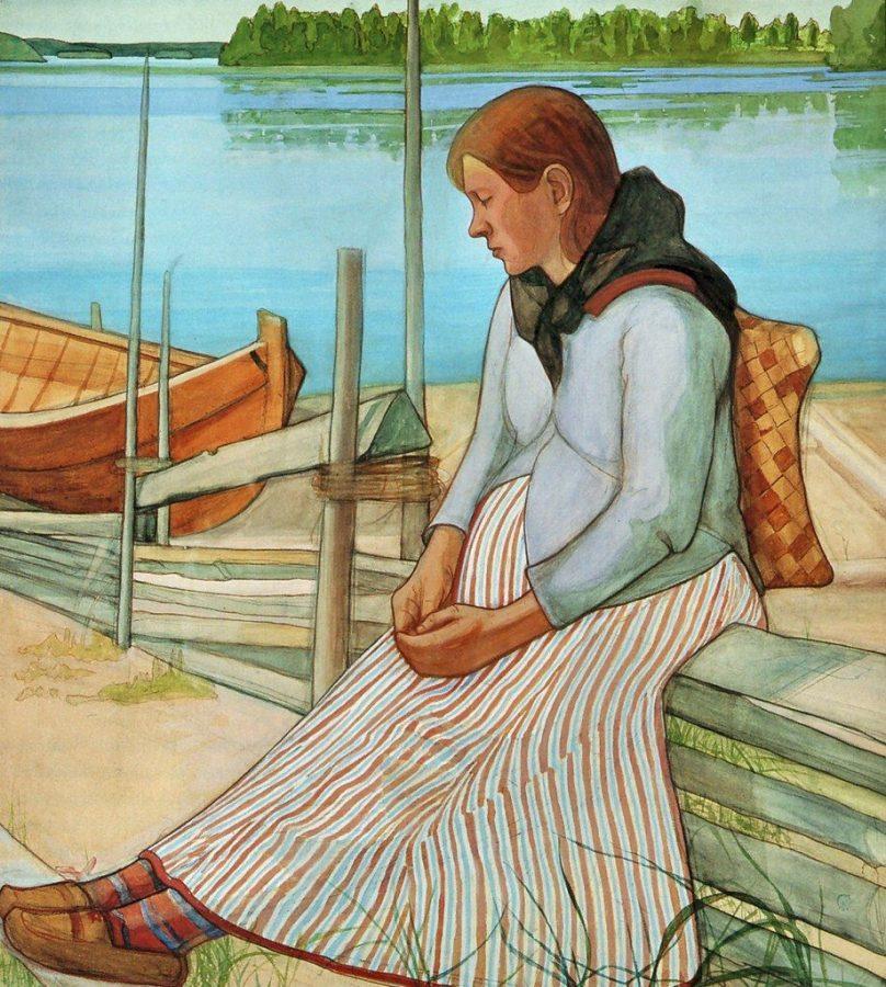 Юхо Риссанен «Девушка, сидящая у моря», 1920-е © Ateneum