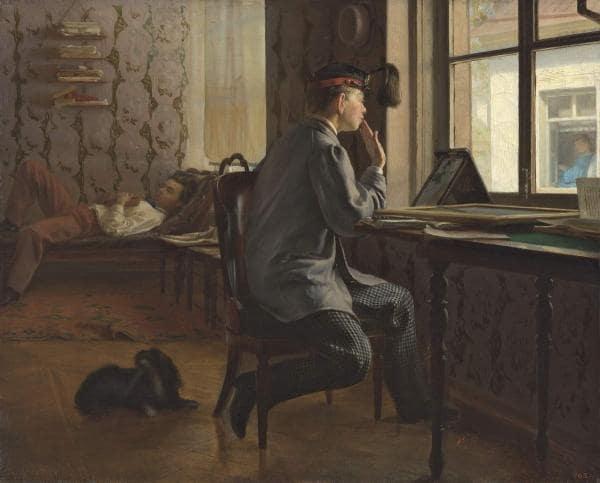 И.Е. Репин «Приготовление к экзамену», 1864 © ГРМ