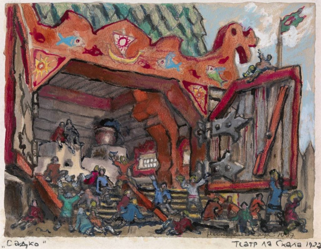 Н. А. Бенуа Эскиз декораций к опере «Садко» на сцене театра «Ла Скала», 1927 © roerich.spb.ru