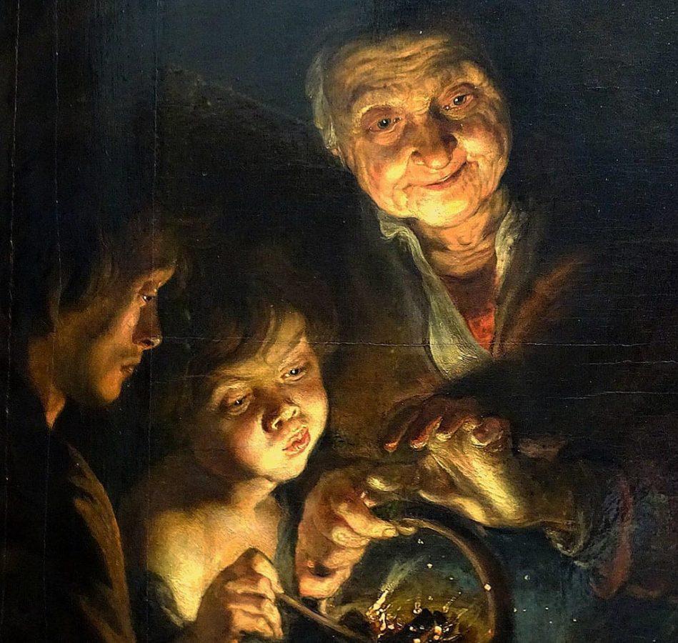Питер Пауль Рубенс «Старуха с жаровней», 1617-1618 © Дрезденская картинная галерея