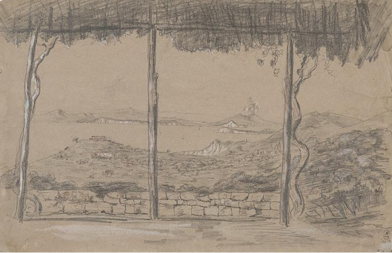 П.С. Строганов «Сорренто. Вид на Неаполитанский залив», 1840 © ГРМ