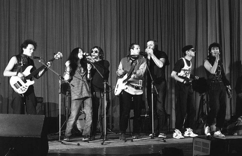 Дмитрий Конрадт. Концерт в Ленинградском рок-клубе. 1985 © ГРМ