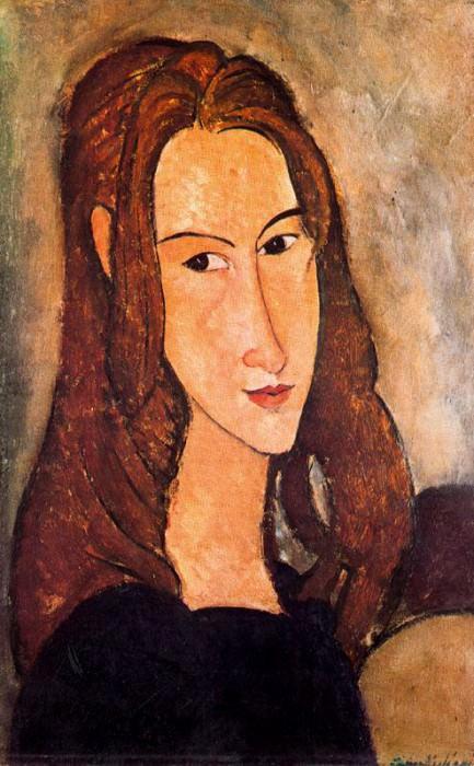 Амедео Модильяни «Рыжеволосая девушка (Жанна Эбютерн)», 1918 © Pinacotheque de Paris