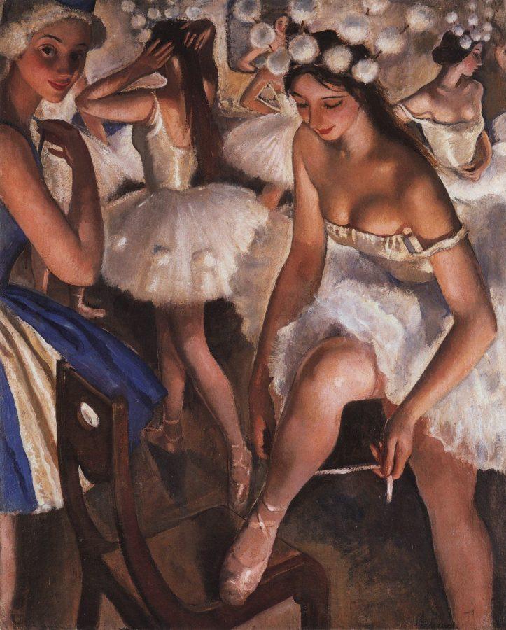 З.Е.Серебрякова «Балетная уборная. Снежинки» (балет П.И. Чайковского «Щелкунчик»), 1923 © Государственный Русский музей