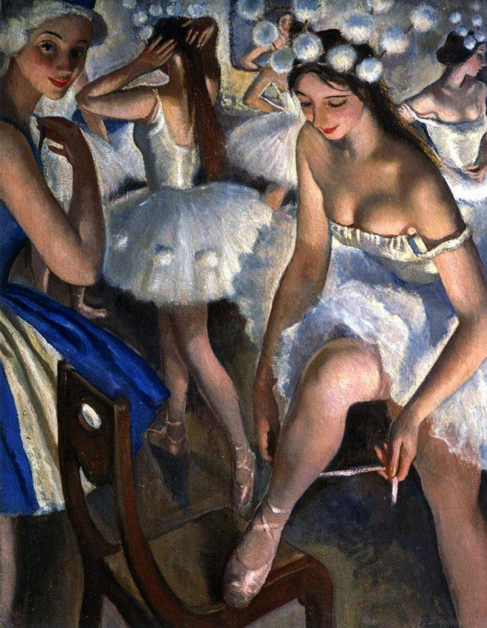 З. Е. Серебрякова «Балетная уборная. Снежинки» (балет «Щелкунчик»), 1923 © ГРМ