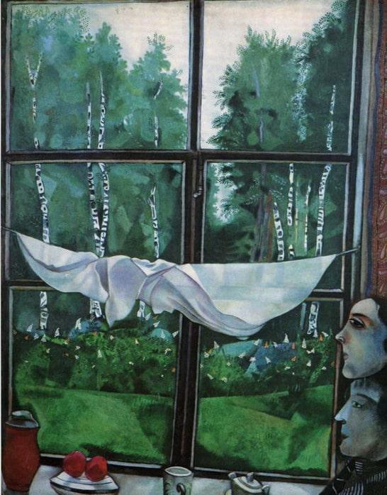 Марк Шагал «Окно в деревне», 1915 © ГТГ