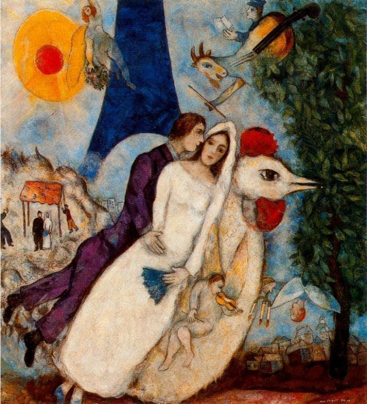 М.З. Шагал «Обрученные и Эйфелева башня», 1938-1939 © Centre Pompidou