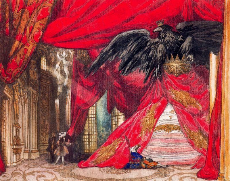 Леон Бакст Эскиз декораций к IV акту балета П.И.Чайковского «Спящая принцесса» © Thyssen-Bornemisza Collection. Lugano
