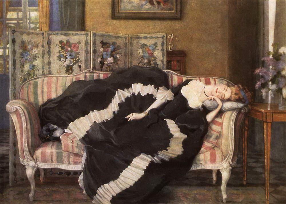К.А. Сомов «Спящая молодая женщина», 1909 © ГТГ