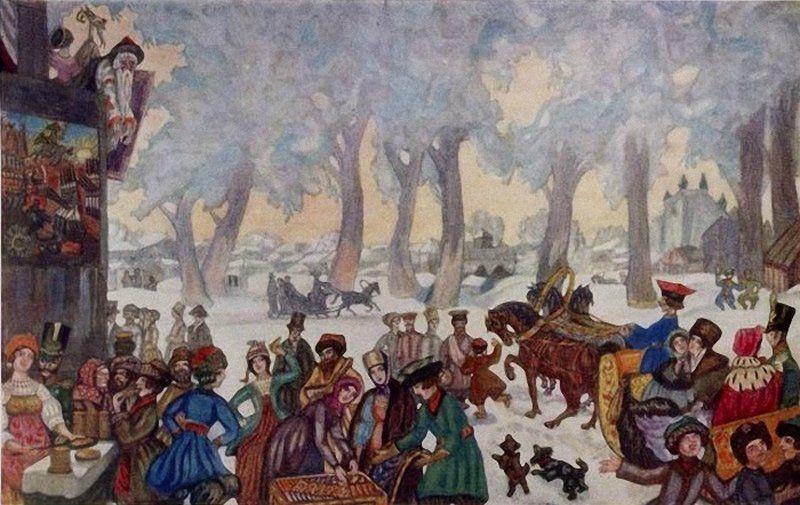 Сергей Судейкин «Большая масленица», 1910