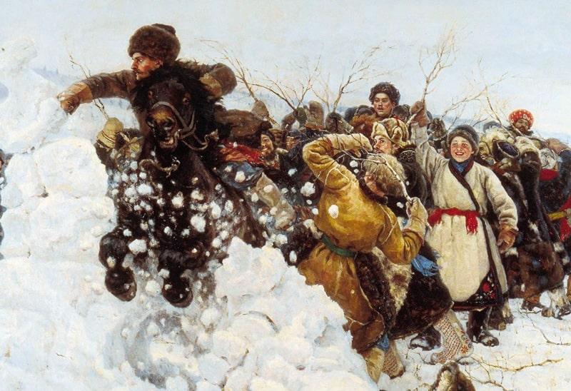 Василий Суриков «Взятие снежного городка», 1891 © ГРМ