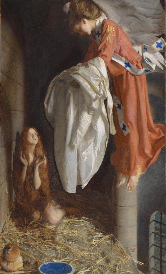 Фрэнк Каупер «Св. Агнесса, получающая с небес «сияющее одеяние», 1905 © Tate