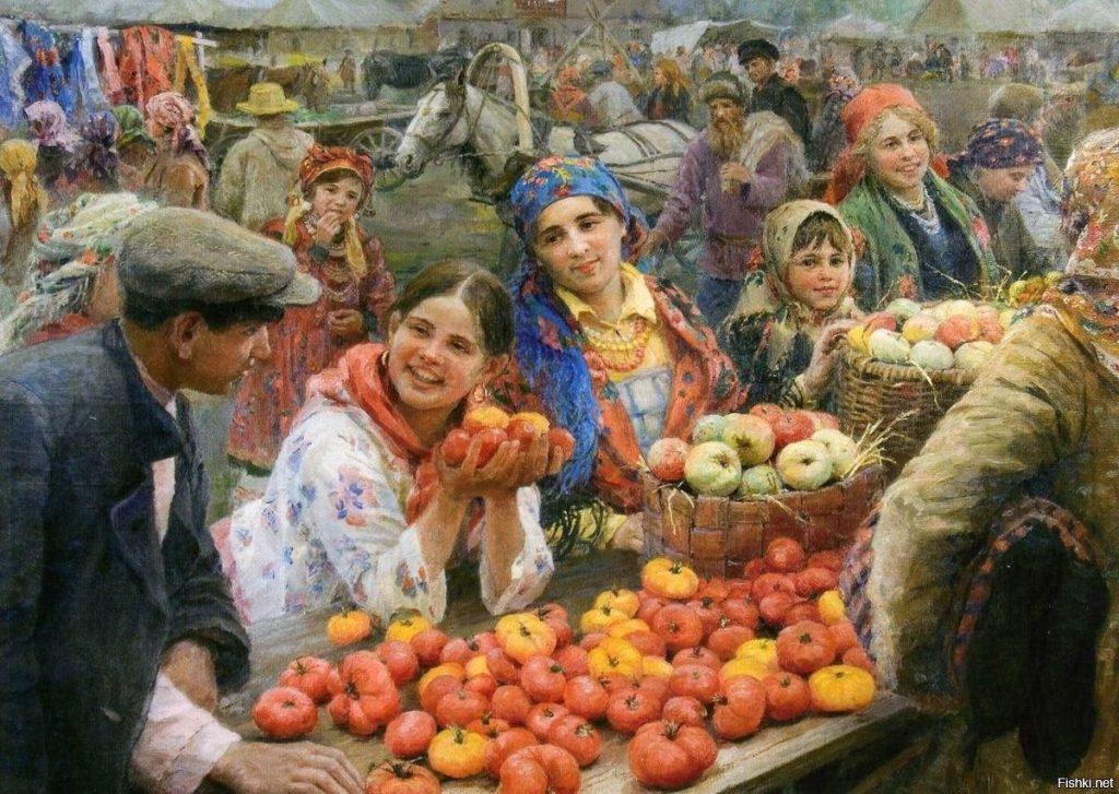 Ф.В. Сычков «Колхозный базар», 1936 © ПКГ