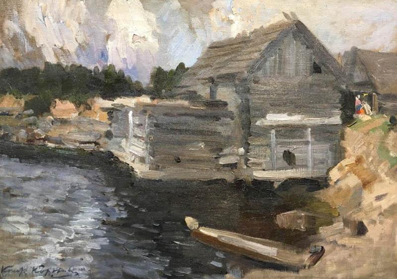 К.А. Коровин «Пейзаж с мельницей», 1910-е. Частное собрание © Таврида-АРТ