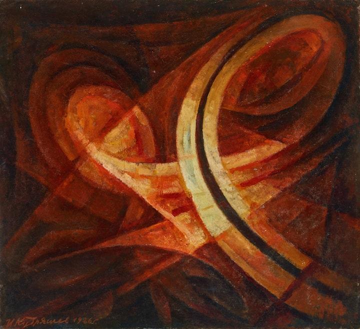 И.А. Кудряшев «Траектория полета Земли вокруг Солнца», 1926 © ГТГ