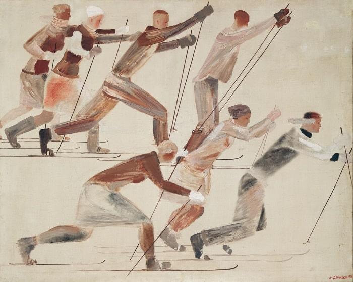 А.А. Дейнека «Лыжники», 1931 © ГТГ