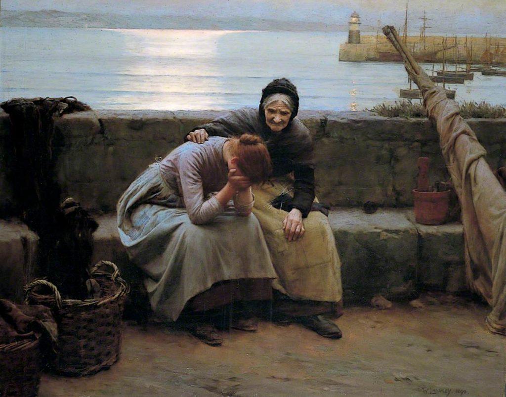 Уолтер Лэнгли «Утро вечера мудренее, но все же сердца разбиваются», 1882 © Museums and Art Gallery, Birmingham