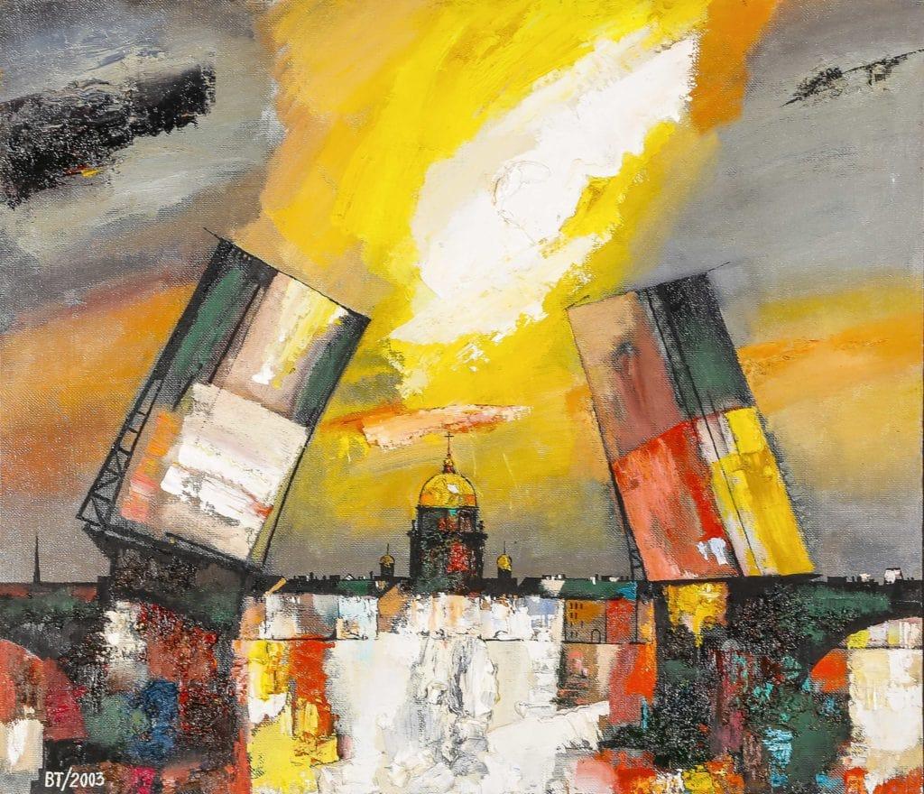 Валерий Табулинский «Дворцовый мост», 2003. Холст, масло © МИСП