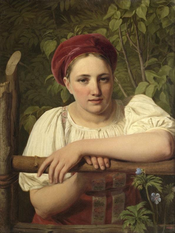 А. Г. Венецианов «Крестьянка Тверской губернии», 1840 © ГРМ