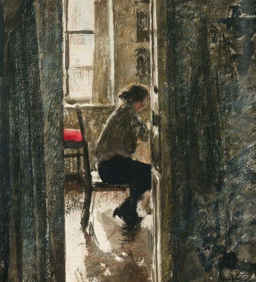 Г. Верейский «За шитьем», 1926 © ГТГ