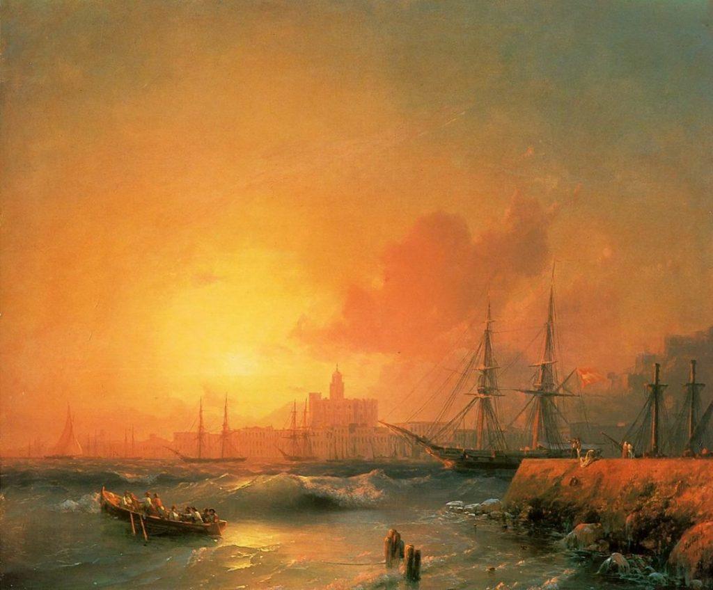 И.К. Айвазовский «Вид Малаги», 1854 © Феодосийская галерея имени И.К. Айвазовского