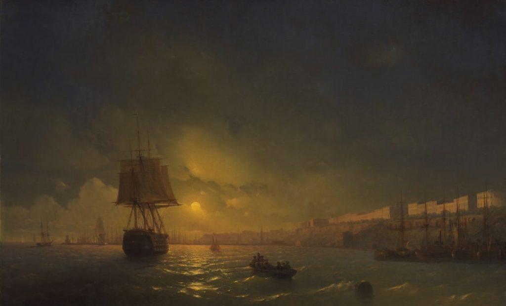 И.К. Айвазовский «Вид Одессы в лунную ночь», 1846 © ГРМ